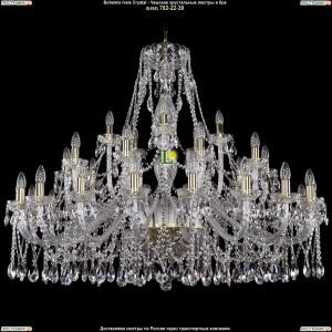 1413/20+10+5/460-100/G Хрустальная люстра большая Bohemia Ivele Crystal (Богемия)