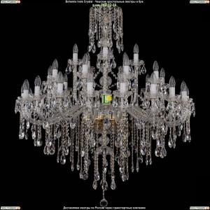 1415/20+10+5/400-128/G Хрустальная люстра большая Bohemia Ivele Crystal (Богемия)