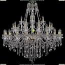 1415/20+10+5/460-132/G Хрустальная люстра большая Bohemia Ivele Crystal (Богемия)