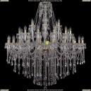 1415/24+12+6/460-140/G Хрустальная люстра большая Bohemia Ivele Crystal (Богемия)