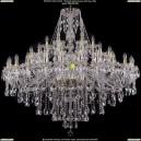 1415/24+12+6/530-135/G Хрустальная люстра большая Bohemia Ivele Crystal (Богемия)