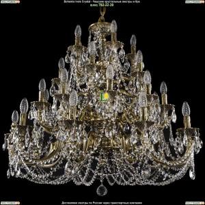 1742/10+10+5+5/335/C/GB Хрустальная люстра большая Bohemia Ivele Crystal (Богемия)