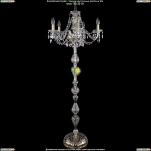 5506/5/160-140/G Хрустальный торшер Bohemia Ivele Crystal (Богемия)