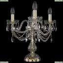1406L/3/141-39/G Хрустальная настольная лампа Bohemia Ivele Crystal (Богемия)