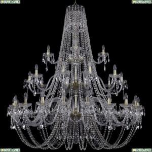 1406/20+10+5/530-200/G Хрустальная подвесная большая люстра Bohemia Ivele Crystal (Богемия)