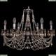 1702/6/250/C/NB/R701 Хрустальная подвесная люстра Bohemia Ivele Crystal (Богемия)