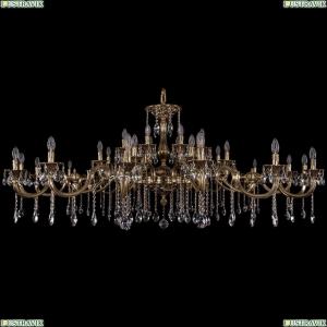 1709/32/410+300/A/GB Хрустальная подвесная большая люстра Bohemia Ivele Crystal (Богемия)