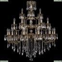 1732/12+6+3/300-100/B/GB Хрустальная подвесная большая люстра Bohemia Ivele Crystal (Богемия)