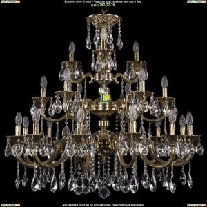1732/12+6+3/335-85/A/GB Большая подвесная хрустальная люстра Bohemia Ivele Crystal (Богемия)