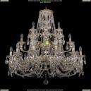 1732/12+6+3/300-85/C/GW Хрустальная подвесная большая люстра Bohemia Ivele Crystal (Богемия)