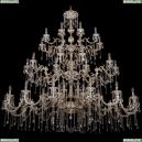 1739/32+18+10/410+300/A/GW Большая хрустальная подвесная люстра Bohemia Ivele Crystal