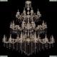 1739/32+18+10/410+300/B/GW Хрустальная подвесная большая люстра Bohemia Ivele Crystal (Богемия)