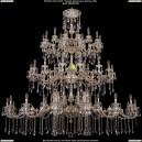 1739/32+24+24/410+300/A/GW Хрустальная подвесная большая люстра Bohemia Ivele Crystal (Богемия)