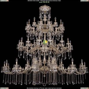 1739/32+24+24/410+335/A/GW Большая подвесная хрустальная люстра Bohemia Ivele Crystal (Богемия)