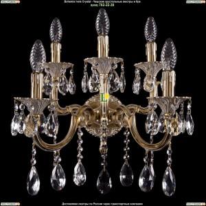 1800/2+3/265+110/A/GW Хрустальное бра Bohemia Ivele Crystal (Богемия)