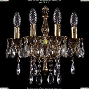 1800/4/125/B/GB Хрустальное бра Bohemia Ivele Crystal (Богемия)