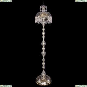 5877/30-150/G/Drops Хрустальный торшер с большим хрустальным абажуром Bohemia Ivele Crystal (Богемия)