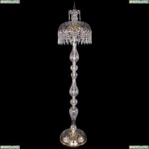 5877/35-150/G/Drops Хрустальный торшер с большим хрустальным абажуром Bohemia Ivele Crystal (Богемия)