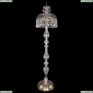 5877/35-150/G/Leafs Хрустальный торшер с большим хрустальным абажуром Bohemia Ivele Crystal (Богемия)