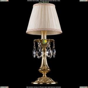 7001/1-30/GD/SH33A Хрустальная настольная лампа  Bohemia Ivele Crystal (Богемия)