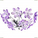 5142 Люстра потолочная Globo Purple, 3 лампы, фиолетовый, хром
