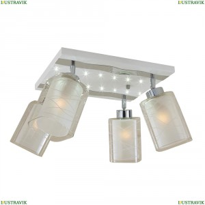 CL160241 Люстра потолочная со светодиодной подсветкой Белый+Хром CITILUX (Ситилюкс) Прима