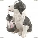 33370 Светильник уличный светодиодный на солнечных батареях Globo solare собака с фонариком