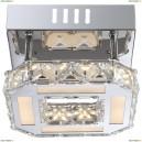 67051-8D Светильник настенно-потолочный светодиодный хрустальный Globo Miley, 1 светодиод, хром, белый