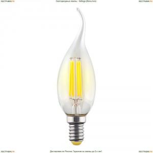 7017 ( VG10-CW1E14warm6W-F ) Voltega (Вольтега) Лампа светодиодная филаментная E14 6W 2800К, Свеча на ветру