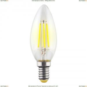 7019 ( VG10-C1E14warm6W-F ) Voltega (Вольтега) Лампа светодиодная филаментная E14 6W 2800К, Свеча