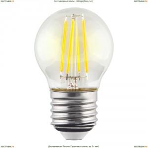 7024 ( VG10-G1E27cold6W-F ) Voltega (Вольтега) Лампа светодиодная филаментная E27 6W 4000К, Шар