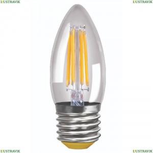 7046 (VG10-C1E27warm6W-F) Лампа светодиодная филаментная E27 6W 2800K прозрачная Voltega (Вольтега), Crystal