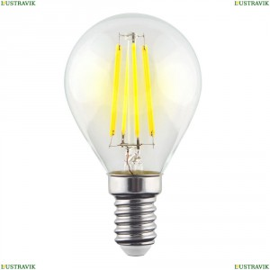 7099 (VG10-G1E14cold9W-F) Лампа светодиодная филаментная филаментная E14 9W 4000К прозрачная Voltega (Вольтега), Crystal