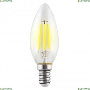 7097 (VG10-C1E14cold9W-F) Лампа светодиодная филаментная филаментная E14 9W 4000К прозрачная Voltega (Вольтега), Crystal