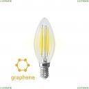 7135 (VG10-C35E14cold9W-F) Светодиодная лампа, Свеча E14 4000K 9W Graphene Voltega (Вольтега), Crystal