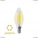 7134 (VG10-C35E14warm9W-F) Светодиодная лампа, Свеча E14 2800K 9W Graphene Voltega (Вольтега), Crystal