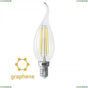 7133 (VG10-CW35E14cold9W-F) Светодиодная лампа, Свеча на ветру E14 4000K 9W Graphene Voltega (Вольтега), Crystal