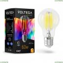 7154 Лампа светодиодная филаментная E27 7W 2800K прозрачная VG10-A60E27warm7W-FHR Voltega (Вольтега), General purpose bulb