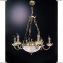 L 4650/6+2 Люстра подвесная Reccagni Angelo, 8 ламп, бронза