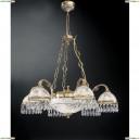 L 6000/6+2 Люстра подвесная Reccagni Angelo, 8 ламп, бронза