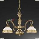 L 7950/3 Люстра подвесная Reccagni Angelo, 3 плафона, бронза
