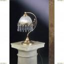 P 3831 Настольная лампа хрустальная Reccagni Angelo, 1 плафон, бронза