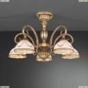 PL 8120/5 Люстра потолочная Reccagni Angelo, 5 плафонов, бронза, белый с рисунком