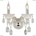 OML-30501-02 Бра хрустальное Omnilux, 2 лампы, кремовый с хромом, прозрачный хрусталь (Омнилюкс)