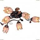 OML-36507-06 Люстра потолочная Omnilux, 6 плафонов, коричневый (Омнилюкс)