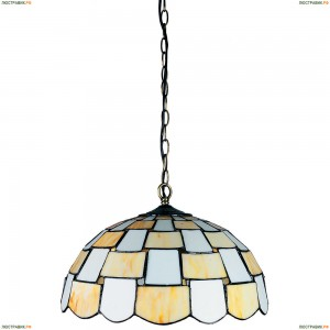 OML-80103-03  Люстра подвесная Omnilux тиффани, 3 лампы, бронза (Омнилюкс)