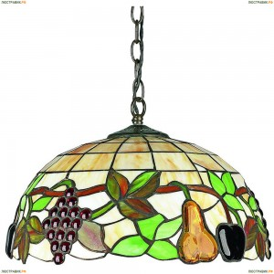 OML-80303-03 Люстра подвесная Omnilux тиффани, 3 лампы, бронза (Омнилюкс)