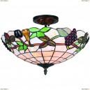 OML-80307-03 Люстра потолочная Omnilux тиффани, 3 лампы, бронза (Омнилюкс)