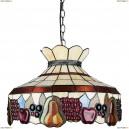 OML-80313-03 Люстра подвесная Omnilux тиффани, 3 лампы, бронза (Омнилюкс)
