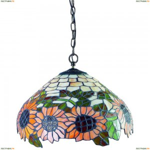 OML-80403-03 Люстра подвесная Omnilux тиффани, 3 лампы, бронза (Омнилюкс)